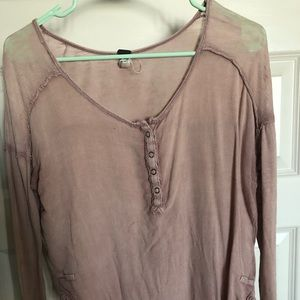 Free people light pink top